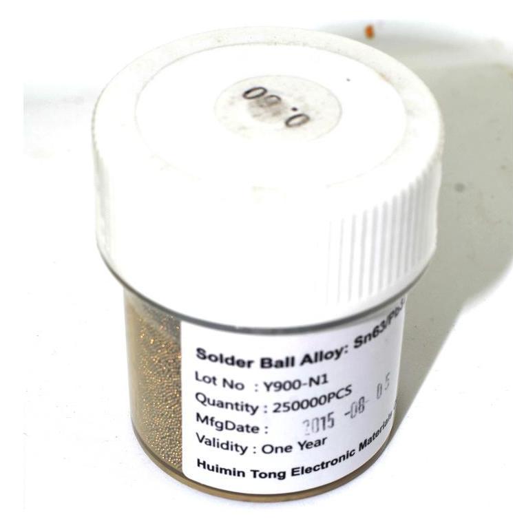 Шары BGA 0.6 mm для реболла 250000шт