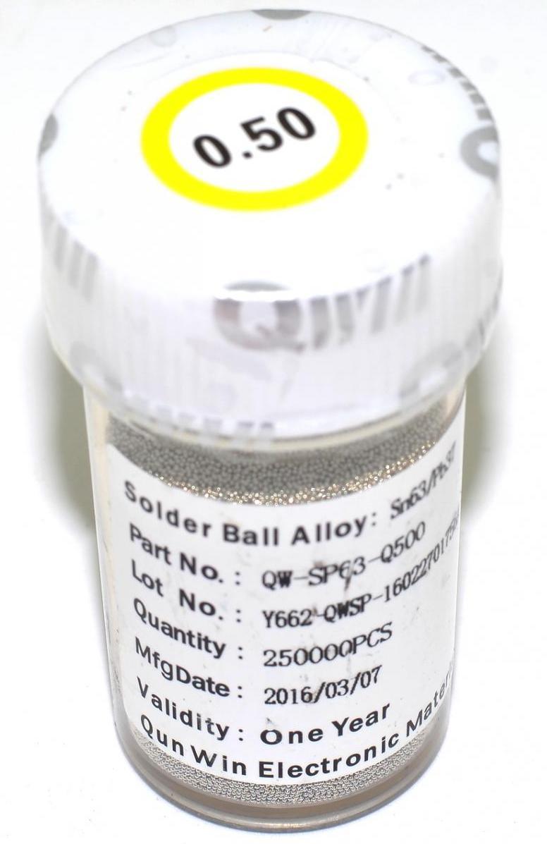 Шары BGA 0.5 mm для реболла 250000 шт