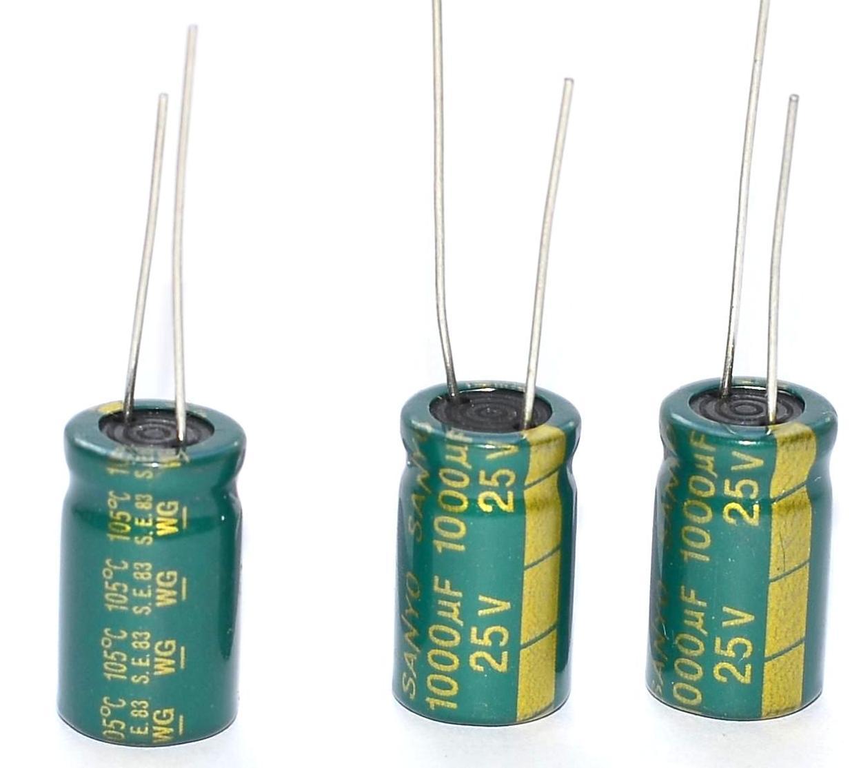 Кое-что о взаимозаменяемости электролитических конденсаторов 16
