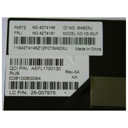 Клавиатура для ноутбука LENOVO S9 S10 WHITE